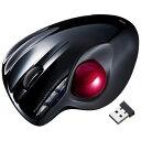 サンワサプライ ワイヤレスレーザートラックボール[2.4GHz・USB] (6ボタン・ブラック) MA-WTB43BK[MAWTB43BK]