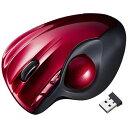 サンワサプライ ワイヤレスレーザートラックボール[2.4GHz・USB] (6ボタン・レッド) MA-WTB43R[MAWTB43R]
