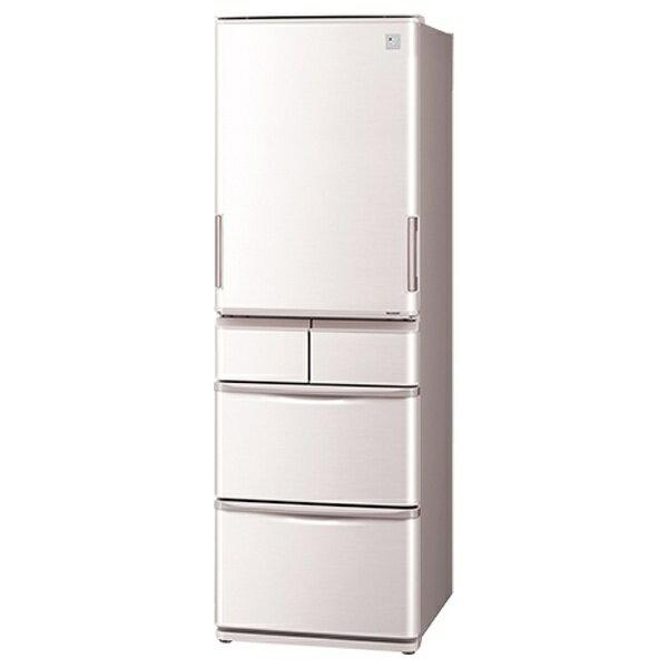 【標準設置費込み】 シャープ 《基本設置料金セット》 5ドア冷蔵庫 (424L) SJ-PW42A-C ベージュ系(サクラベージュ)[SJPW42AC]