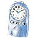 リズム時計 伝言機能付目覚まし時計 「伝言くんルージュW」 4SE521-004[4SE521004