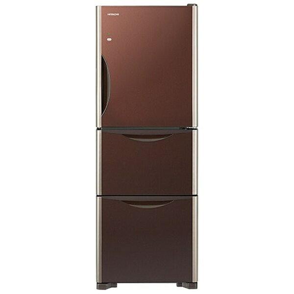 【標準設置費込み】 日立 《基本設置料金セット》 3ドア冷蔵庫 「真空チルド」(265L) R-S2700FV-XT クリスタルブラウン[RS2700FVXT]