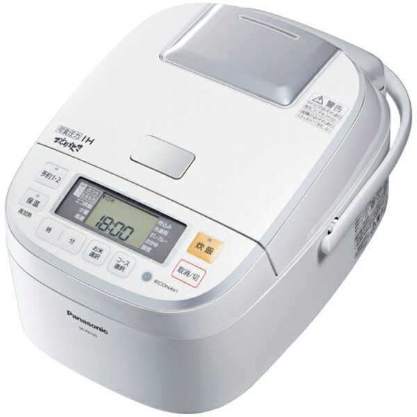 【送料無料】 パナソニック SR-PB105-W 圧力IH炊飯ジャー 「おどり炊き」(5.5合) SR-PB105-W ホワイト[SRPB105]