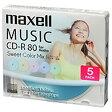日立マクセル 音楽用CD-R 80分/5枚【インクジェットプリンタ対応】【カラーミックス】 CDRA80PSM.5S