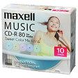 日立マクセル 音楽用CD-R 80分/10枚【インクジェットプリンタ対応】【カラーミックス】 CDRA80PSM.10S