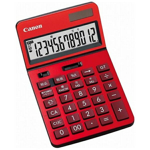 キヤノン CANON ビジネス電卓 「新・ビジネス向け電卓」(12桁) KS-1220TU-RD (レッド)[KS1220TURDSOB]