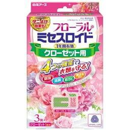 白元 <strong>フローラルミセスロイド</strong> クローゼット用 3個入 フローラルブーケの香り〔防虫剤〕