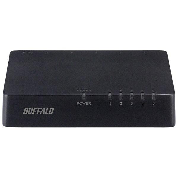 BUFFALO バッファロー スイッチングハブ[5ポート・100/10Mbps・ACアダプタ] プラスチック筐体 LSW4-TX-EP/Dシリーズ ブラック LSW4-TX-5EPL/BKD[LSW4TX5EPLBKD]