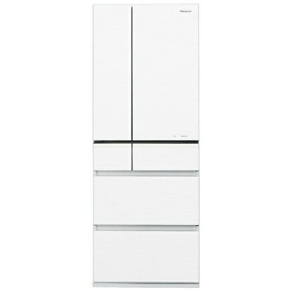 【標準設置費込み】 パナソニック NR-F561PV-W 《基本設置料金セット》 6ドア冷蔵庫 (551L) NR-F561PV-W スノーホワイト 「PVタイプ」[NRF561PVW]