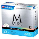 三菱化学メディア 1-4倍速対応 データ用Blu-ray BD-Rメディア[M-DISC] (25GB・10枚) VBR130YMDP10V1