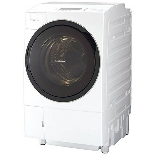 【標準設置費込み】 東芝 [左開き] ドラム式洗濯乾燥機 (洗濯11.0kg/乾燥7.0kg) 「Bigマジックドラム」 TW-117V3L-W グランホワイト 【洗濯槽自動お掃除・ヒートポンプ乾燥機能付】[TW117V3LW]