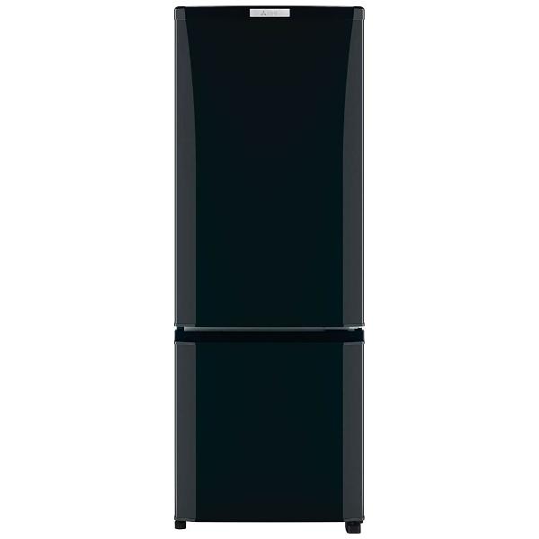 【標準設置費込み】 三菱 《基本設置料金セット》 2ドア冷蔵庫 (168L) MR-P17Z-B サファイアブラック 「Pシリーズ」[MRP17ZB]