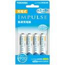 東芝 TOSHIBA TNHC-34MESM 充電器 IMPULSE 充電器 充電池 /単3形4本 /単3形〜単4形兼用