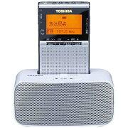 【送料無料】 東芝 TOSHIBA 【ワイドFM対応】FM/AM 携帯ラジオ(シルバー) TY-SPR7 S[TYSPR7S]