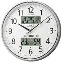 【送料無料】 リズム時計 高精度温湿度計付電波掛時計 「インフォームナビF」 4FY618-019