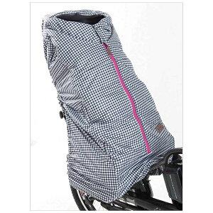【送料無料】 WIPCREAM リヤチャイルドシート用風防カバー(ギンガムチェック) WC-RS0215
