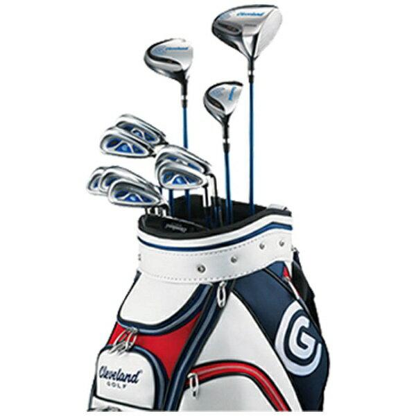【送料無料】 クリーブランド メンズ ゴルフクラブ 11本セット BOX SET《キャディバッグ付/フライト スピード スチールシャフト》[CGBOX2JST]