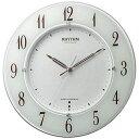 【送料無料】 リズム時計 電波掛け時計 「スリーウェイブM847」 4MY847SR03