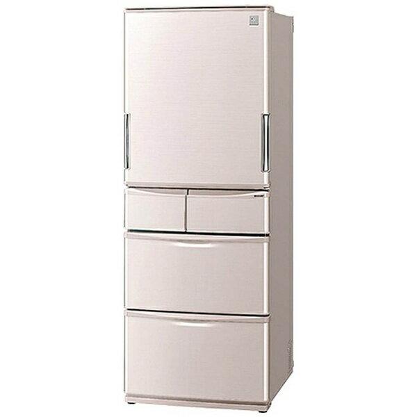 【標準設置費込み】 シャープ 【アウトレット品】 440L 5ドア本体幅65.0cmプラズマクラスターで除菌&脱臭両開き冷蔵庫SJ-XW44A-Cベージュ系《基本設置料金セット》【外装不良品】SJXW44AC 【kk9n0d18p】