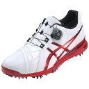 【送料無料】 アシックス メンズ ゴルフシューズ GEL-ACE PRO FG Boa(25.0cm/ホワイト×レッド)TGN916