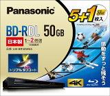 【あす楽対象】 パナソニック 録画用 BD-R DL 1-2倍速 50GB 5+1枚 【インクジェットプリンタ対応】 LM-BR50W6S