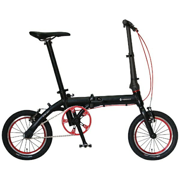 【送料無料】 ルノー 14型 折りたたみ自転車 RENAULT ULTRA LIGHT 7(ブラック) AL-FDB140【組立商品につき返品】 【配送】