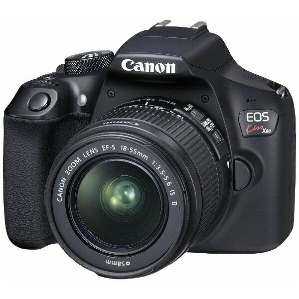 【送料無料】 キヤノン EOS Kiss X80(W)【EF-S18-55 IS II レンズキット】/デジタル一眼レフカメラ