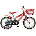 【送料無料】 ブリヂストン 16型 幼児用自転車 クロスファイヤーキッズ(レッド&シルバー/シングルシフト) CK166【組立商品につき返品不可】 【代金引換配送不可】