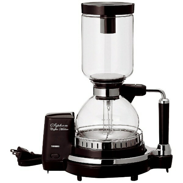 【送料無料】 ツインバード サイフォン式コーヒーメーカー (4杯) CM-D854BR ブラウン[CMD854BR]