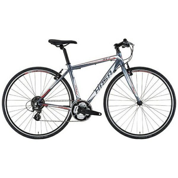 【送料無料】 HASA 700×28C型 クロスバイク HASA RX-7(グレー×レッド/500サイズ) RX7-500【組立商品につき返品】 【配送】