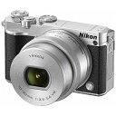 【送料無料】 ニコン Nikon 1 J5【標準パワーズームレンズキット】(シルバー)/ミラーレス一眼カメラ[J5HPLKSL]