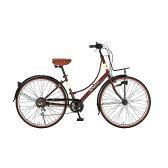 【送料無料】 ルノー 26型 自転車 266L Classic-N(クラシックブラウン/6段変速) 11456-13 【代金引換配送不可】