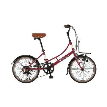 【送料無料】 ルノー 20型 自転車 206L Classic-N(クラシックレッド/6段変速) 11557-02 【代金引換配送不可】