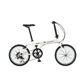 【送料無料】 シボレー 20型 折りたたみ自転車 CHEVY AL-FDB206NX(ウイニングスノー/6段変速) 14281-12 【代金引換配送不可】