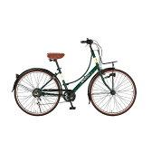 【送料無料】 ルノー 26型 自転車 266L Classic-N(クラシックグリーン/6段変速) 11456-11 【代金引換配送不可】