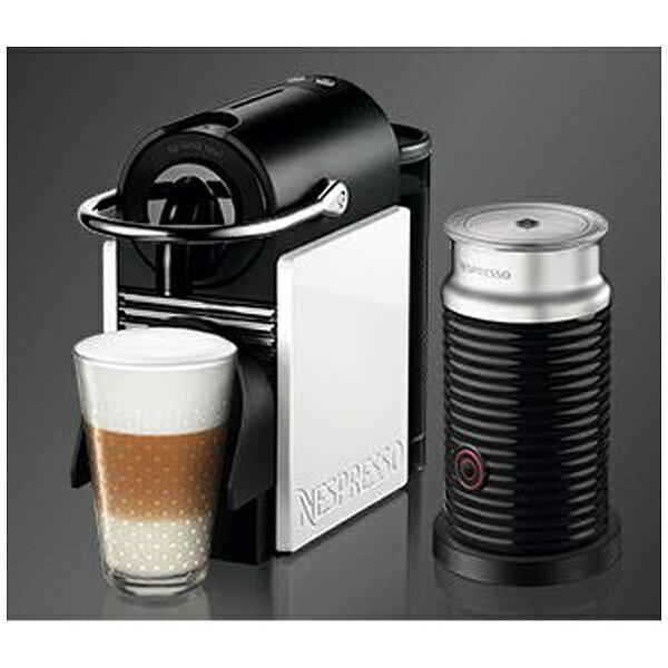 【送料無料】 ネスレネスプレッソ 専用カプセル式コーヒーメーカー 「ピクシークリップ」バンドルセット D60WRA3B ホワイト&コーラルレッド[D60WRA3B]