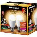 パナソニック LED電球 「LED電球プレミア」(小形電球形[全方向タイプ]・全光束440lm/電球色相当・口金E17/2個入) LDA4L-G-E17/Z40...