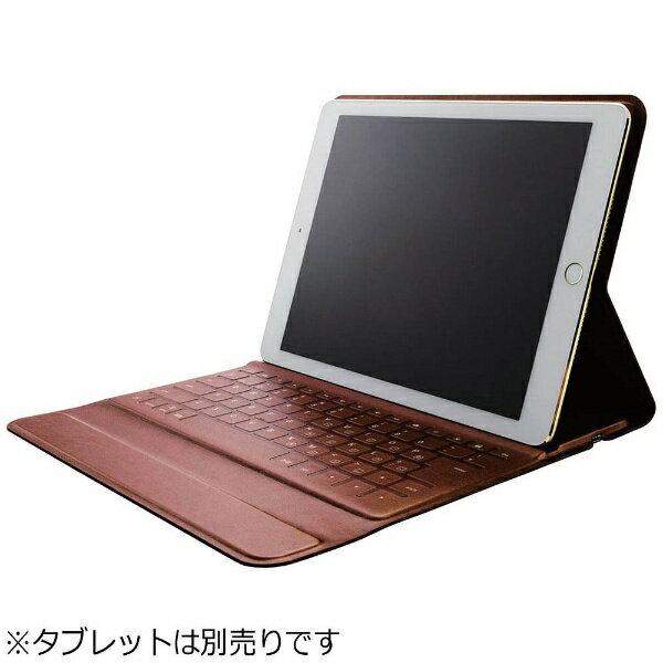【送料無料】 エレコム 9.7インチiPad Pro/iPad Air 2用 イタリアンソフトレザーBluetoothキーボードケース TK-RC30IBK