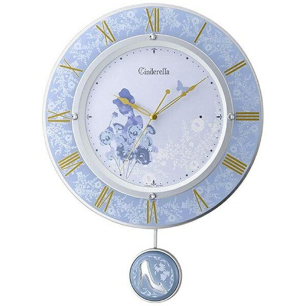 【送料無料】 リズム時計 電波掛け時計 「シンデレラ」 8MX406MC04
