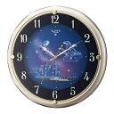 【送料無料】 リズム時計 電波掛け時計 「ファンタジータウンR」 4MY819RH18