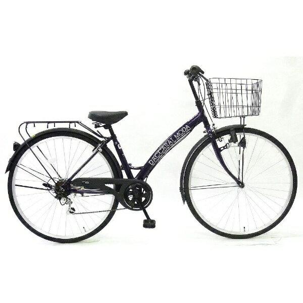 【送料無料】 サイモト自転車 27型 自転車 ダカラットモダ ファッションシティ(パープル/外装6段変速) 270DAMPP【2016年モデル】【組立商品につき返品】 【配送】【メーカー直送・・時間指定・返品】
