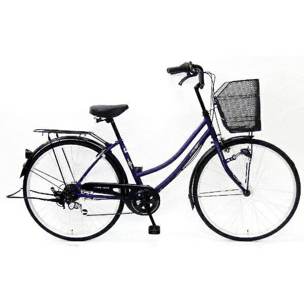 【送料無料】 サイモト自転車 26型 自転車 パティオボックス ファミリー(Mパープル/外装6段変速) 266PATHDMP【2016年モデル】【組立商品につき返品】 【配送】【メーカー直送・・時間指定・返品】 黄色い