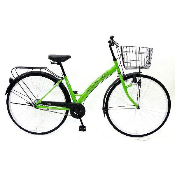 【送料無料】 サイモト自転車 27型 自転車 ダカラットモダ ファッションシティ(ライム/シングルシフト) 270DAMLM【2016年モデル】【組立商品につき返品】 【配送】【メーカー直送・・時間指定・返品】