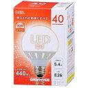 オーム電機(OHM) LED電球G型40W相当 LDG5LGAH9