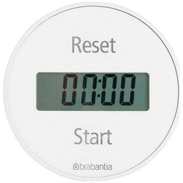ブラバンシア Brabantia デジタルキッチンタイマー 「ブラバンシア」 10368-1 ホワイト[103681キッチンタイマー]の写真