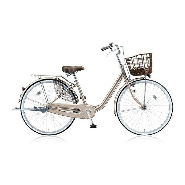 【送料無料】 ブリヂストン BRIDGESTONE 24型 自転車 アルミーユ(M.Xプレシャスベージュ/シングルシフト) AU40T6【2016年/点灯虫モデル】【組立商品につき返品】 【配送】