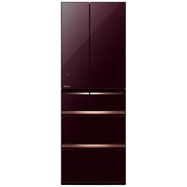 【標準設置費込み】 三菱 6ドア冷蔵庫 (470L) MR-WX47A-BR クリスタルブラウン 「置けるスマート大容量 WXシリーズ」[MRWX47A]