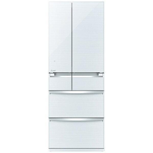 【標準設置費込み】 三菱 6ドア冷蔵庫 (600L) MR-WX60A-W クリスタルホワイト 「置けるスマート大容量 WXシリーズ」[MRWX60A]