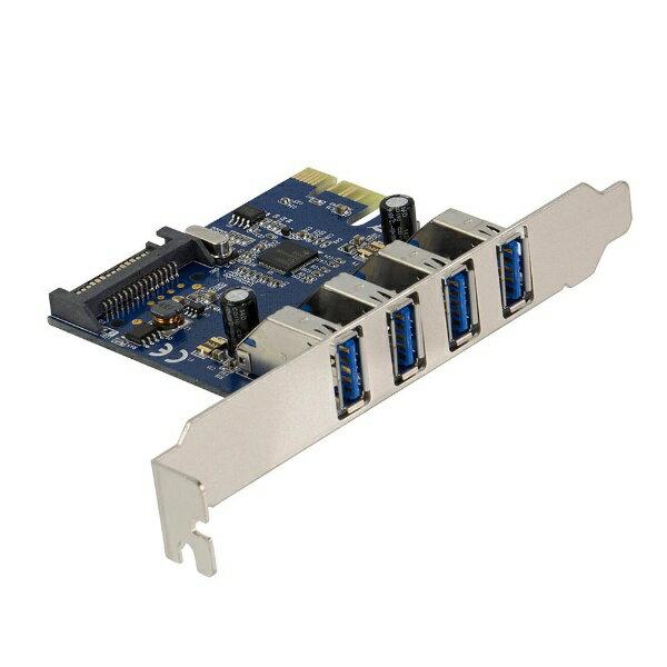 OWLTECH インターフェースボード USB3.0 外部USB3.0×4 PCI Express ロープロファイルブラケット付き 1年保証 OWL-PCEXU3E4L