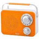 オーム電機(OHM) 【ワイドFM対応】キッキン・シャワーラジオ(オレンジ) RADT380ND