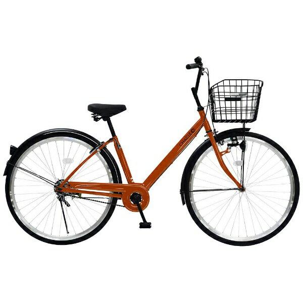 【送料無料】 チャクル 27型 ノーパンク自転車 CHACLE(オレンジ/シングルシフト) CHP-CC270V【組立商品につき返品】 【配送】【メーカー直送・・時間指定・返品】